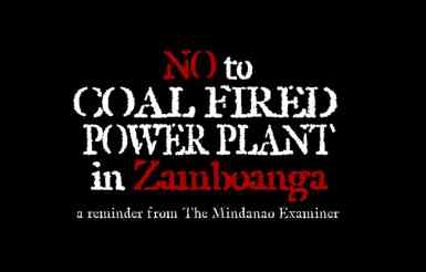 Say No To Coal-Fired Power Plant In Zamboanga!